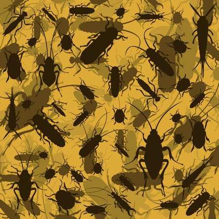 destroy: Insect and microbe environment colorful illustration background