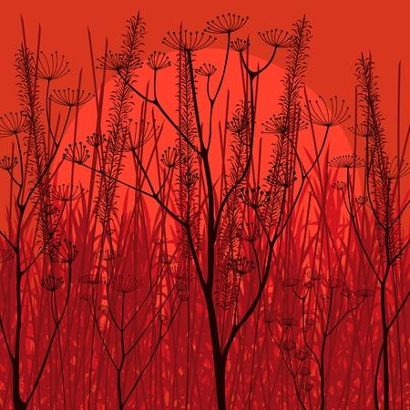 Romantic countryside landscape background illustration Stock Vector - 11649883