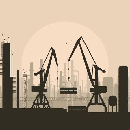 Industrial factory landscape background illustration Stock Vector - 11650063