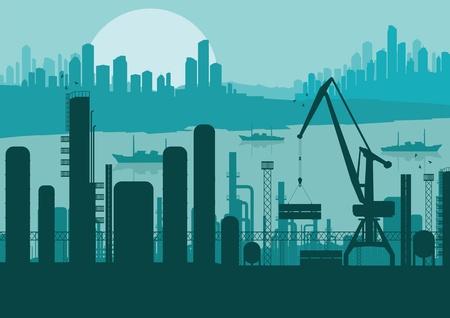Industrial factory landscape background illustration Stock Vector - 11649969