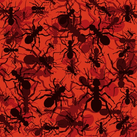 Ants environment colorful illustration background Vector