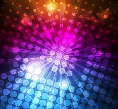 Neon abstract lines design on dark background vector Vector