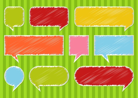 Colorful speech bubbles and balloons illustration collection background Vector
