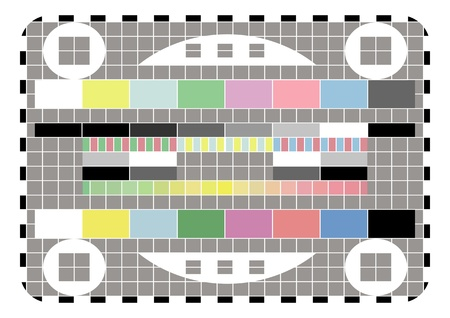 Retro television test screen background illustration Vector