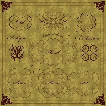 Vintage clothing labels and elements illustration collection Vector