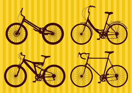Bicycle illustration collection Stock Vector - 11649882