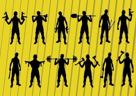 Criminal people vector set Illustration