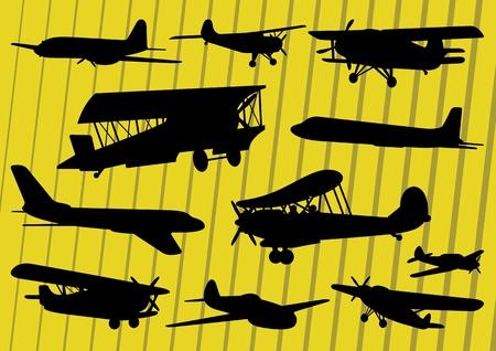 Plane Pilot: Aviones ilustraci�n de la colecci�n de vectores de fondo Vectores