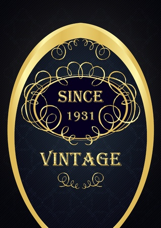 Golden vintage vector background Stock Vector - 12045232