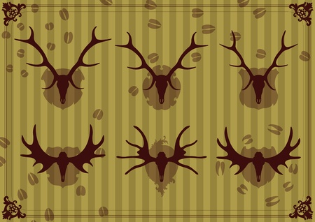 Deer horn background vector Vector