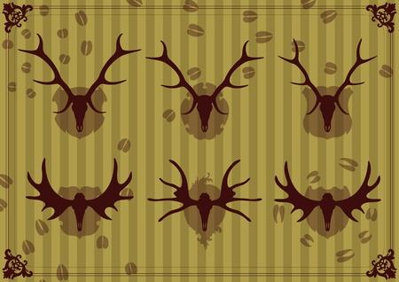 Deer horn background vector Stock Vector - 12485007