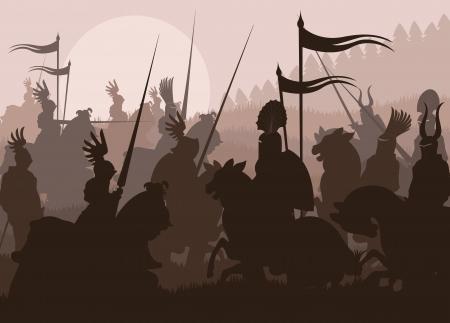 horseman: Caballeros medievales en el fondo la batalla, duelo piloto l�der