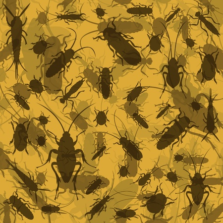 Insect and microbe environment colorful illustration background  Vector