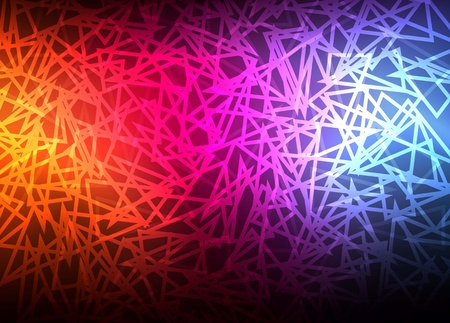 Abstract background with neon effects and colorful lights Vector
