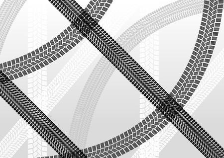 huellas de neumaticos: Huellas de los neumáticos de fondo ilustración creativa