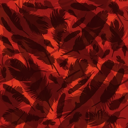 Bird feathers colorful background illustration  Vector