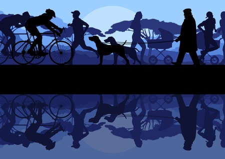 Outdoor recreation background Vector