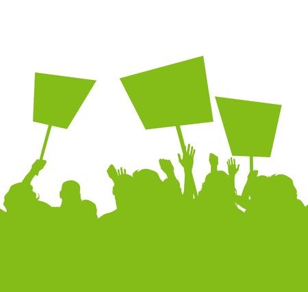 ipotesi: Verde la gente protesta, picchetto contro l'inquinamento