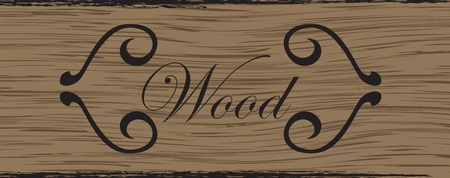 Wood plank texture vector background Vector