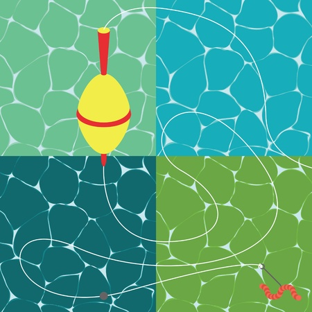 Fishing season water textures illustration collection background vector Stock Vector - 12931352