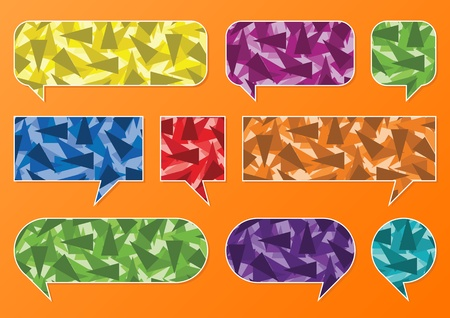 Colorful speech bubbles and balloons illustration collection background vector Vector