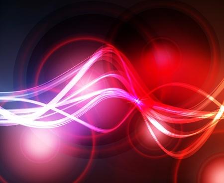 impulse: Zusammenfassung Hintergrund mit Neon-Effekte und bunte Lichter