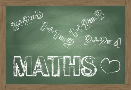 matematica: Matem�ticas pizarra de vectores de fondo