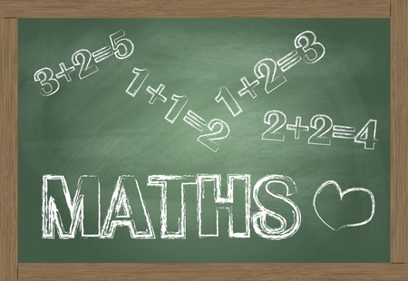 Maths blackboard vector background Vector