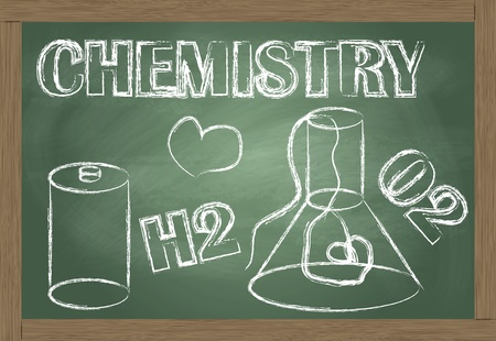 Chemistry blackboard vector background Vector
