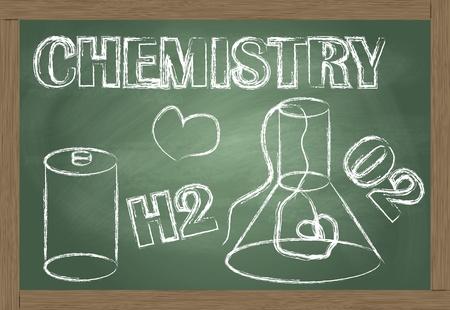 quimica verde: Qu�mica pizarra de vectores de fondo
