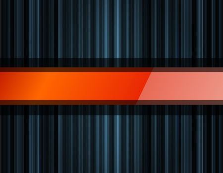 moody: Abstract dark background vector with orange glossy element Illustration