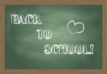 Back To School written on blackboard vector Stock Vector - 12931359