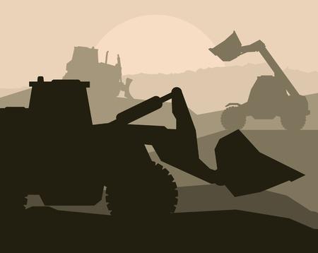 Engins de chantier et de vecteur de fond bulding lieu