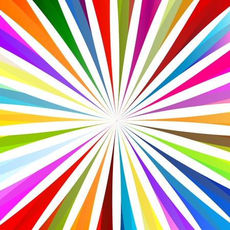 wonderful: Colorful burst background for poster