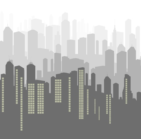 City background panorama for poster Vector