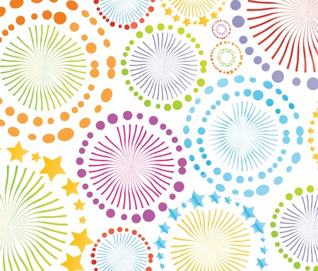 Colorful retro circle texture background for poster Vector