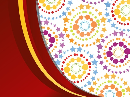 textile image: Colorful retro circle texture background for poster