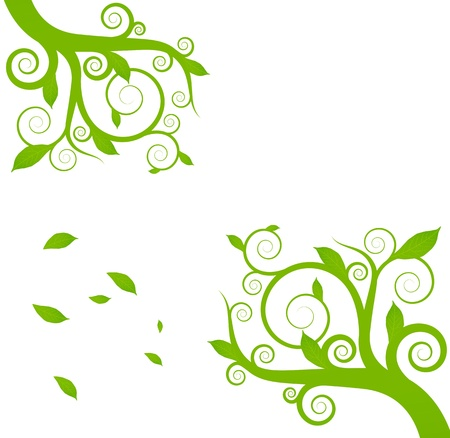 multiple image: Green ecology plant environment background concept