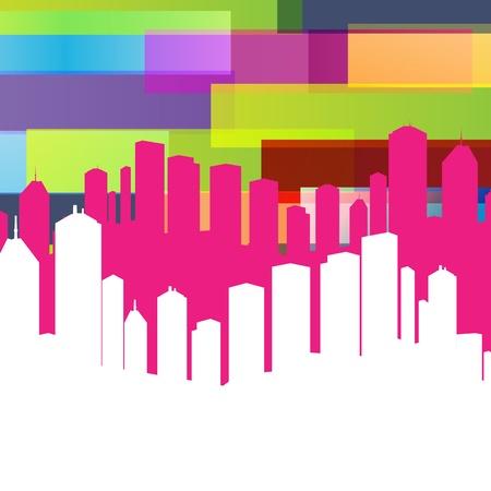 new york street: Colorful fond de ville panoramique avec espace pour le texte