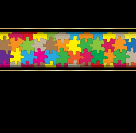 Colorful jigsaw puzzle background for poster Stock Vector - 13412412