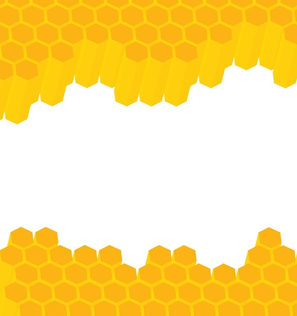 beeswax: Honeycomb background for poster Illustration