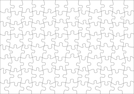 jigsaw puzzle: Transparent puzzle on withe background for poster Illustration
