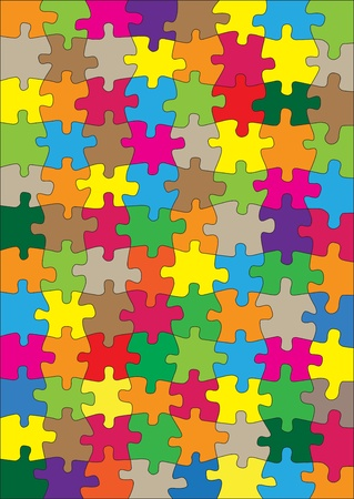 vivid: Colorful jigsaw puzzle background for poster
