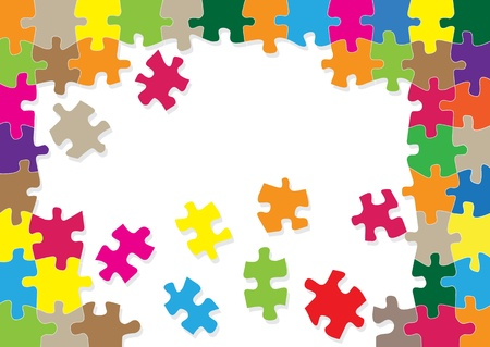 guidelines: Colorful jigsaw puzzle background for poster