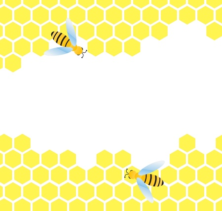 animal cell: Honeycomb background for poster Illustration