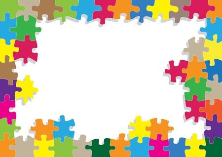 sencillez: Rompecabezas de colores de fondo para el cartel del rompecabezas Vectores