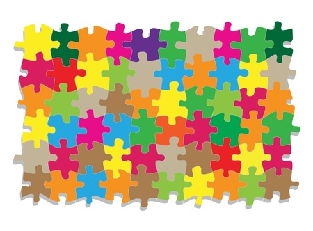 Colorful jigsaw puzzle background for poster Stock Vector - 13412254