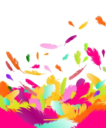 Exotic feather background for poster Illustration