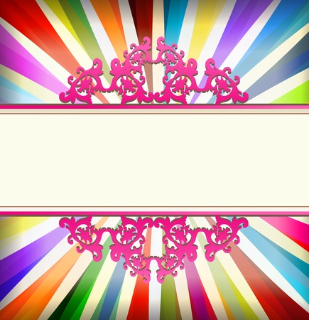Vintage colorful template with retro sun burst background for poster Stock Vector - 13444849