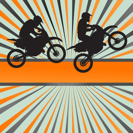 Race motorcycle burst background for poster Vector